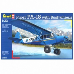 Piper PA-18 with Bushwheels Model Airplane Kit